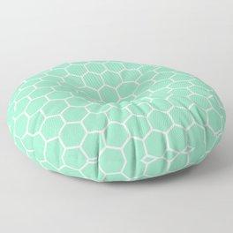 Honeycomb (White & Mint Pattern) Floor Pillow