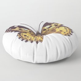 Painted lady butterfly Floor Pillow