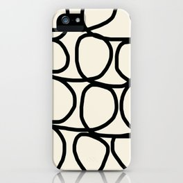 Loop Di Doo Cream & Black iPhone Case