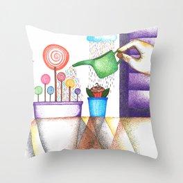 imagine (pointillism) Throw Pillow