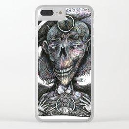 Feminine Skull Clear iPhone Case