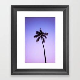 palm tree ver.violet Framed Art Print