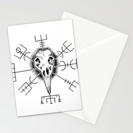 Raven and Vegvisir Stationery Cards