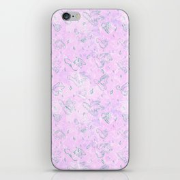 Flying Phallus Print iPhone Skin