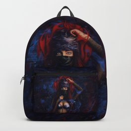 Girl on fire   Digital art   Multirealism Backpack