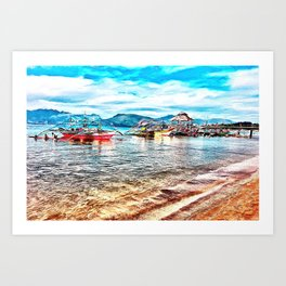 Beach Day at Subic Bay Art Print