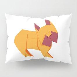 Origami French Bulldog Pillow Sham