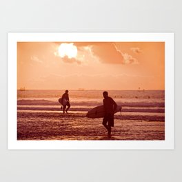 Sunset at Balangan Art Print