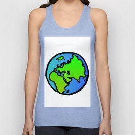 Earth Unisex Tank Top