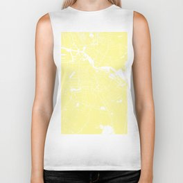 Amsterdam Yellow on White Street Map Biker Tank