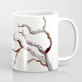 BOB ROSS QUOTE//TREES DON'T GROW EVEN, THEY DON'T GROW STRAIGHT Coffee Mug