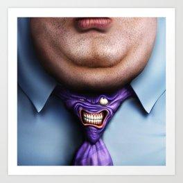 Man Fat and Tie Art Print