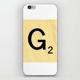 Scrabble G Decor, Scrabble Art, Large Scrabble Prints, Word Art, Accessories, Apparel, Home Decor iPhone Skin