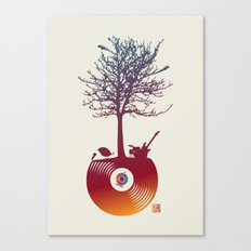 Vinyl Tree 2 Canvas Print