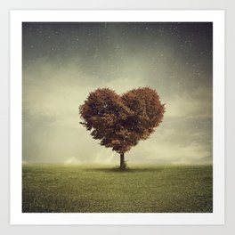 Heart Tree Art Print