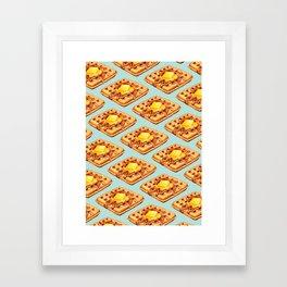 Waffle Pattern Framed Art Print