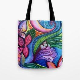 """""""Summer Bloom"""" Floral Tote Bag"""