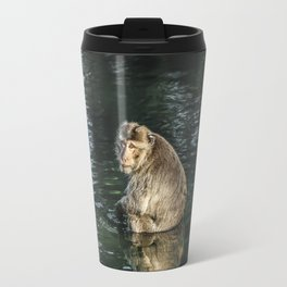 Monkey in the water Travel Mug