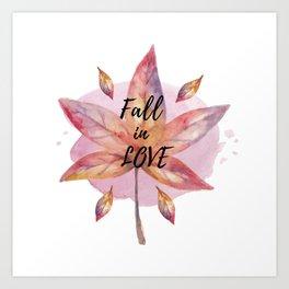 Fall Quote Art Print