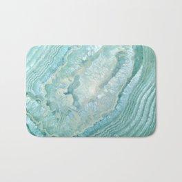 """Aquamarine Pastel and Teal Agate Crystal"" Bath Mat"