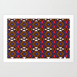 Honeycomb Belt Buckle Fastener Pattern Art Print