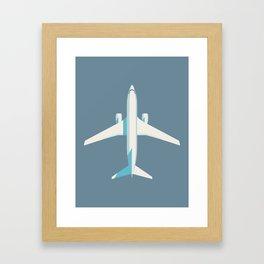 737 Passenger Jet Airliner Aircraft - Slate Framed Art Print