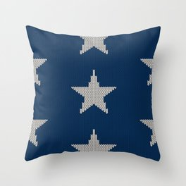 Knitted Stars Throw Pillow