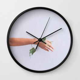 Let Go, Woman with Plants Wall Clock