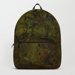 Grunge rocky green red ground Backpack