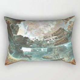 Aqua Space Shipyard Rectangular Pillow