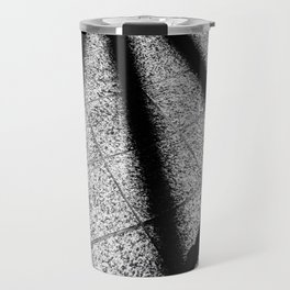 shadow on the tile floor in black and white Travel Mug