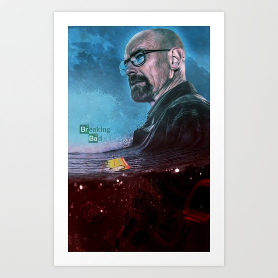 Breaking Bad Death Print  Art Print