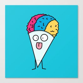 Silly Snow Cone Canvas Print