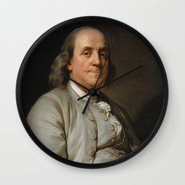 Benjamin Franklin Oil Painting Wall Clock