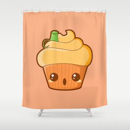 Spooky Cupcake - Pumpkin Shower Curtain