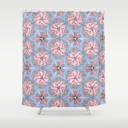 Pattern blue gray color Shower Curtain