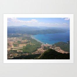 Akyaka and The Bay Of Gokova Photograph Art Print