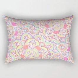 Candyfloss Colors - Doodled Pattern Rectangular Pillow