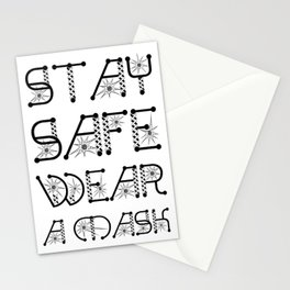 Stay Safe, Wear A Mask Virus Pandemic Awareness Design Stationery Cards