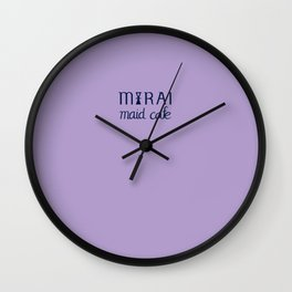 Mirai Maid Cafe logo Wall Clock