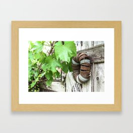 Rusty Wreath Framed Art Print