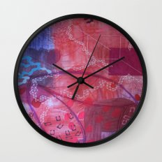 Rouge abstract Wall Clock