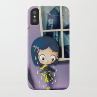 coraline iPhone & iPod Cases featuring It's Coraline not Caroline. by Irene Dose