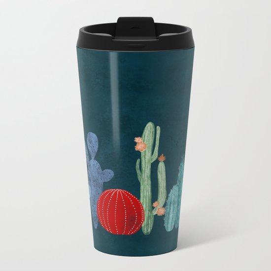 Cactus garden Metal Travel Mug