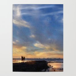 Evening by the sea Poster