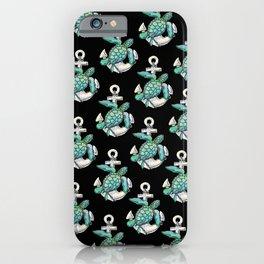 Sea Turtle Anchor iPhone Case