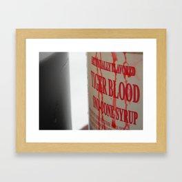 Tiger Blood Framed Art Print