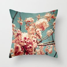 Sweet Blossoms Throw Pillow