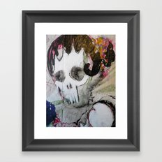 Day of the Dead Flamenco Dancer Portrait Framed Art Print