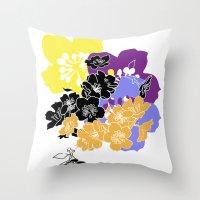 hawaii Throw Pillows featuring hawaii by Wyldbloom